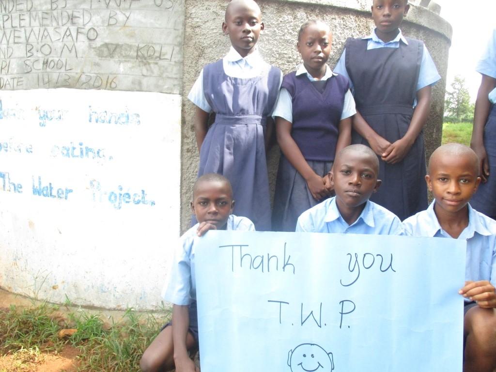 Photo of Vokoli Primary School Rainwater Catchment Project
