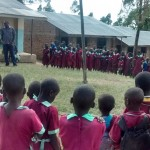 The Water Project: Eshivembe Primary School Rainwater Catchment Project -