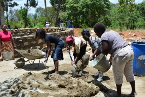 The Water Project : 2-kenya4500-construction