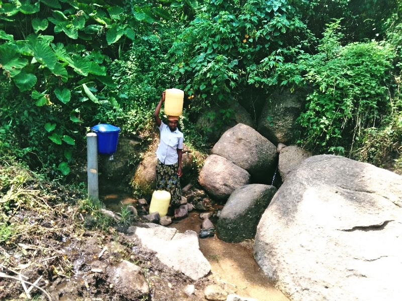 The Water Project : 2-kenya4566-fetching-water-2
