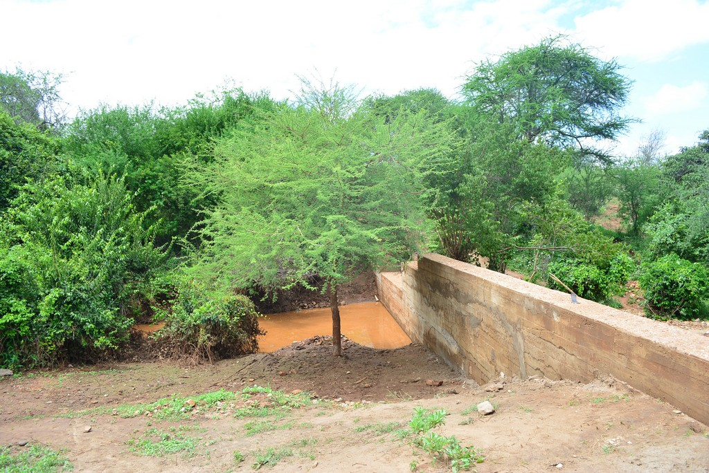 The Water Project : 3-kenya4461-finished-dam