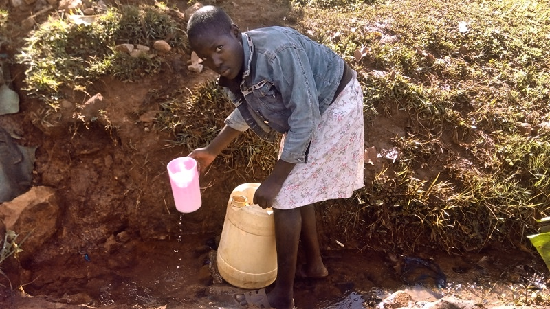 The Water Project : 3-kenya4567-unprotected-spring
