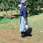 The Water Project: Kavehere Spring Protection Project -  Water For Boiling