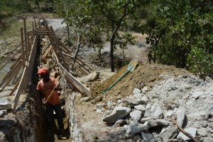 The Water Project : 5-kenya4462-dam-construction