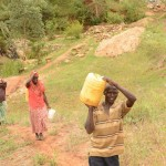 The Water Project : 1-kenya4468-fetching-water
