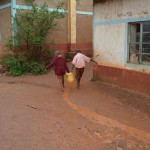 The Water Project: Maiani Primary School -  Fetching Water
