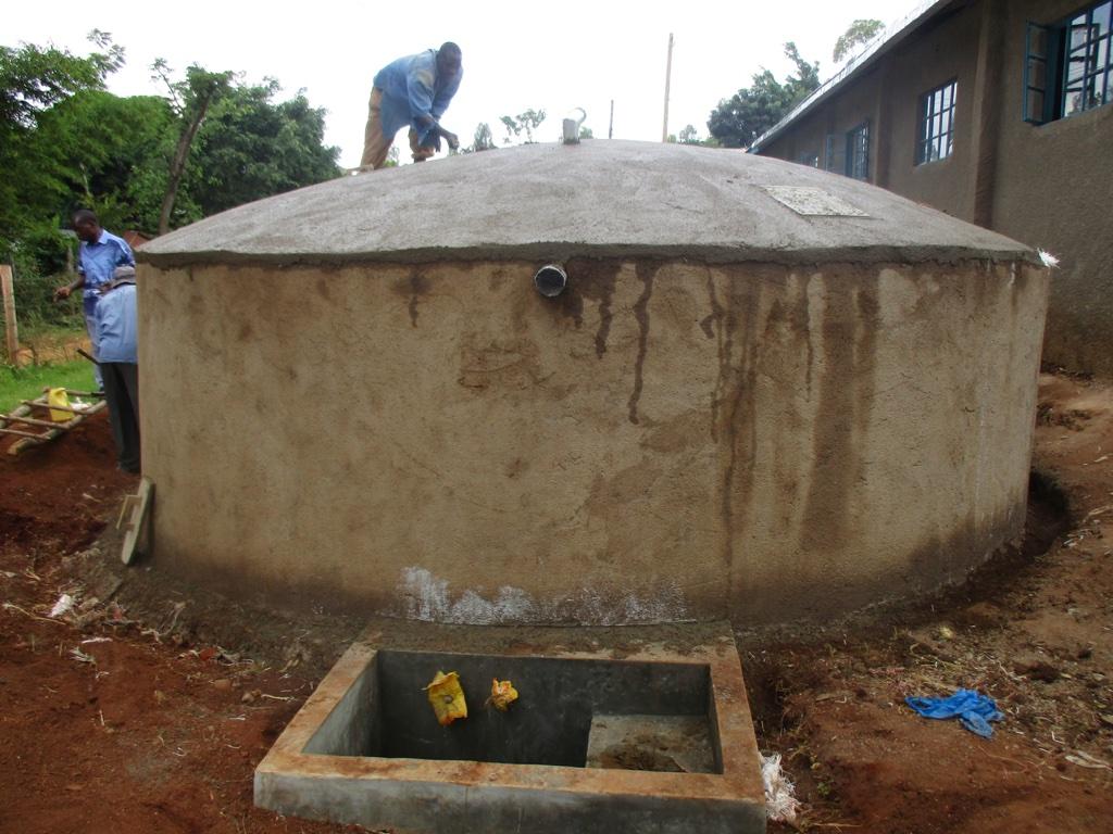 The Water Project Kenya Esalwa Primary School Rainwater