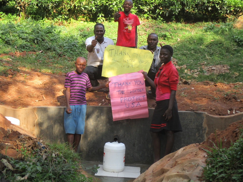 The Water Project : 15-kenya4572-protected-spring