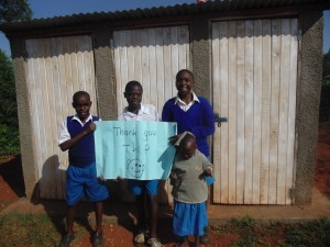 The Water Project : 15-kenya4605-finished-latrines