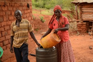 The Water Project : 4-kenya4468-water-containers
