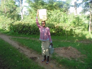 The Water Project : 1-kenya4574-fetching-water