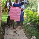 The Water Project: Kavehere Spring Protection Project -  Sanitation Platform