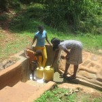 The Water Project: Kavehere Spring Protection Project -  Protected Spring