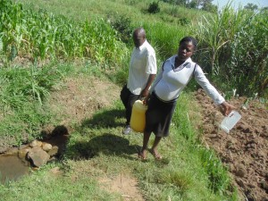 The Water Project : 2-kenya4578-unprotected-spring