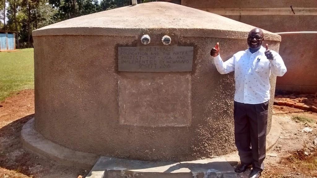 Photo of St. Theresa's Musaa Primary School Rainwater Catchment Tank