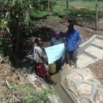 The Water Project: Peter Indeche Spring Protection Project -