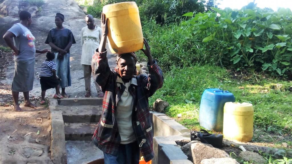Photo of Mwibichiri Spring Protection Project