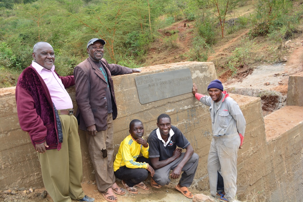 The Water Project : 18-kenya4467-finished-sand-dam