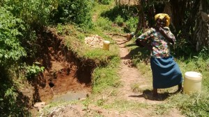 The Water Project : 6-kenya4581-fetching-water