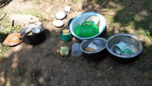 The Water Project : 9-kenya4586-utensils-on-ground