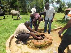 The Water Project : 11-kenya4541-well-pad-construction
