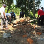 The Water Project : 13-kenya4542-well-pad-construction