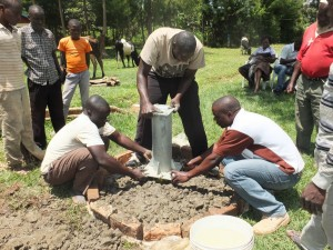 The Water Project : 14-kenya4541-well-pad-construction