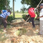 The Water Project : 14-kenya4542-well-pad-construction