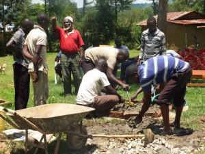 The Water Project : 15-kenya4541-well-pad-construction