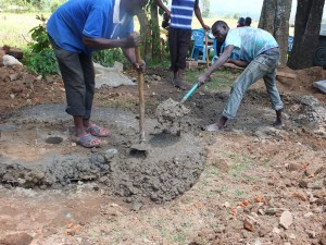 The Water Project : 15-kenya4542-well-pad-construction