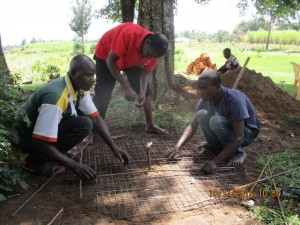 The Water Project : 19-kenya4542-well-pad-construction