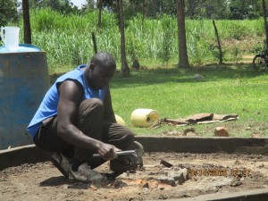 The Water Project : 20-kenya4541-well-pad-construction