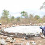 The Water Project: Ndwaani Primary School -  Construction