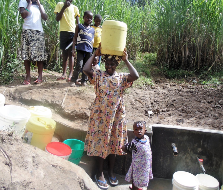 The Water Project : 14-kenya4584-protected-spring