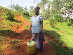 The Water Project : 6-kenya4592-fetching-water