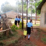 The Water Project: Bumuyange Secondary School -  Fetching Water Before Classes