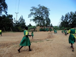 The Water Project:  Girls Rushing To Latrines
