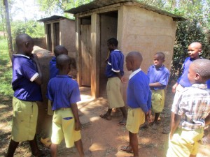 The Water Project:  Boys Waiting For Latrines