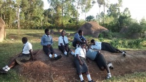 The Water Project : 13-kenya4640-students-relax-on-rocks