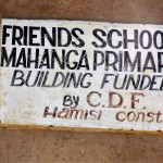 The Water Project: Mahanga Primary School -  School Sign