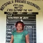 The Water Project: Matsigulu Friends Secondary School -  Principal Lydia Eunice Amara