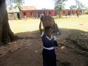 The Water Project:  Pheobe Aunga Bring Maize Flour To School For Lunch