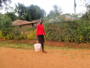 The Water Project:  Rispa Takes Maize To Grind After School