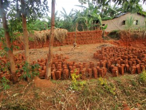The Water Project:  Local Brickmaking