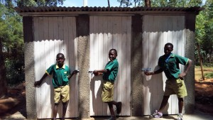 The Water Project : 23-kenya4627-finished-latrines