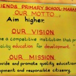 The Water Project: Mahanga Primary School -  School Motto