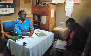 The Water Project:  Meeting With Headteacher