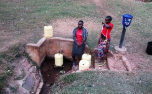 The Water Project:  Josephine And Angella Fetch Water From Wandezwa Spring