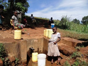 The Water Project:  Community Girl At Spring