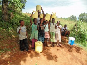 The Water Project:  Community Children At Spring